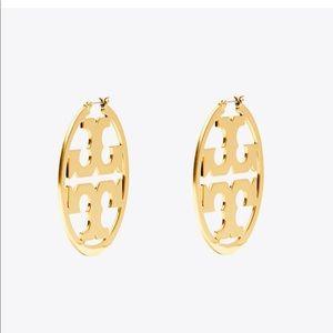 Tory Burch Miller Logo Earrings